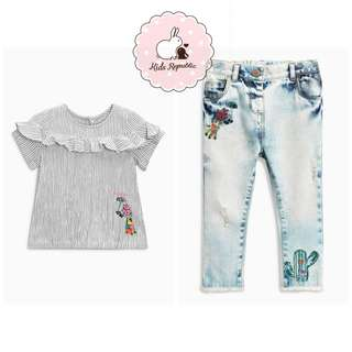 KIDS/ BABY - blouse/ jeans