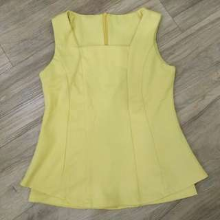 Tanktop blouse yellow super high quality