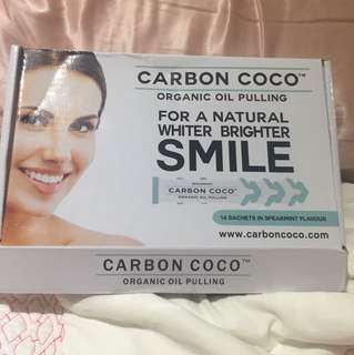 Carbon coco oil pulling kit