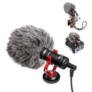 COMICA CVM-VM10-II Kit Cardioid Directional Condenser Video Microphone Mic With Shock-Mount for Smartphone, Zhiyun SMooth Q, GoPro,Sony A7 Series & Panasonic GH4&5