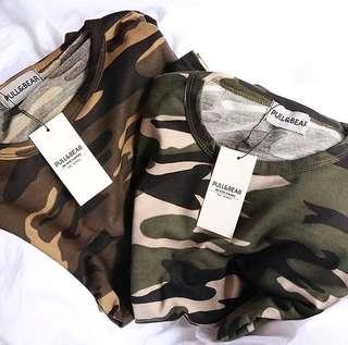 Pull&bear Army T-shirt