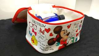 Minnie mouse disney make up pouch /makeup /travel size (large)