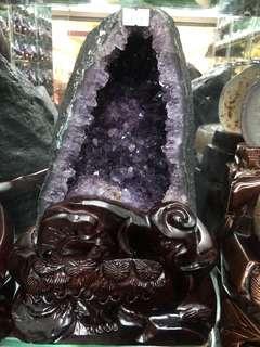 金形巴西紫晶洞 7.1kg