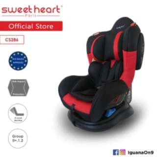 Sweet Heart Paris CS286 New Upgraded Safety Car Seat (New Red Black)