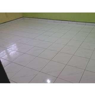 Tukarkan lantai parque ke tiles baru