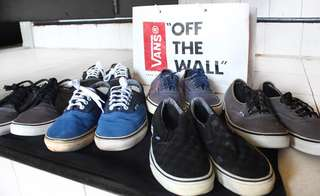 (RUSH) 6 Pairs of Vans Authentic, Era and Chukka Low