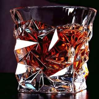 2pcs Diamond cut Whisky glass Spirit glass Scotch Whiskey tumbler for Scotch Bourbon Irish liquor drinking gift idea