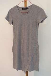 Plain Gray Bodycon Dress