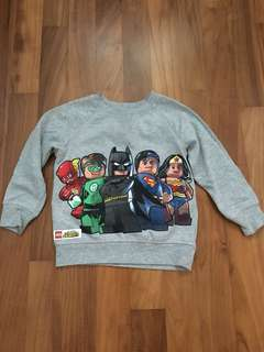 H&M Lego Superheroes jumper 3years