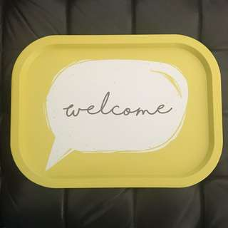 [Last pc] Metal tray - Welcome