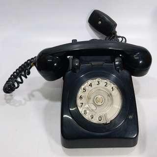中古  懷舊  那些年  1979年  香港電話公司  黑色攪盤電話
