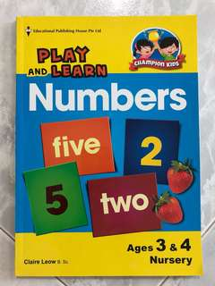 BN Play & Learn Numbers for 3-4yo