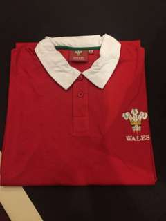 Wales rugby long sleeve polo