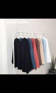 Ulzzang Long Sleeve Top Shirt Tee PO