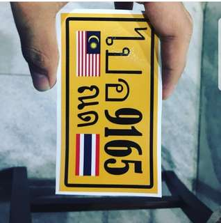 Sticker plat thai