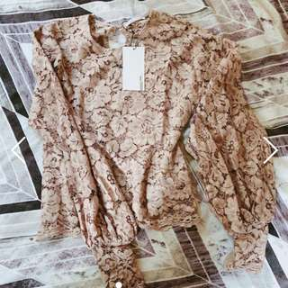 Zara UK Lace Top Size S