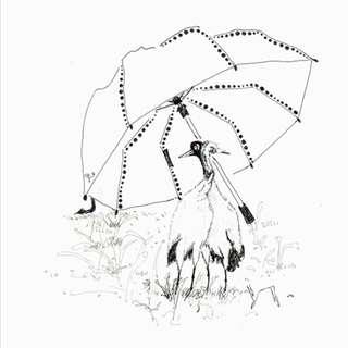 插畫家Riggie黑頸鶴系列-小確幸作品