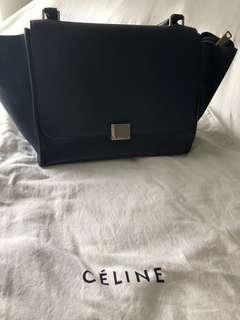 Celine medium Trapeze bag - Navy