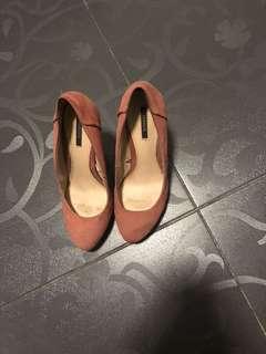 F21 nude pink heels