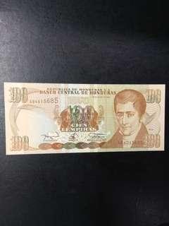 Honduras 100 lempiras 1994 issue