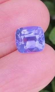 天然無燒紫色藍寶石