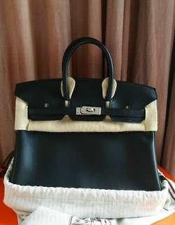 Hermes Birkin 25 Black not Kelly sale!!