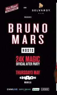 BRUNO MARS AFTER PARTY