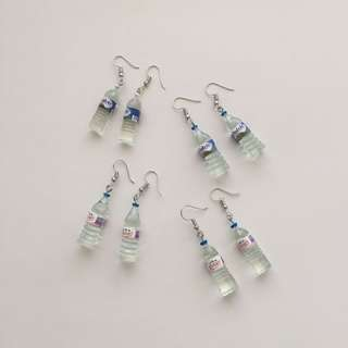 MINIATURE WATER BOTTLE EARRINGS