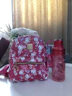 Hello Kitty Bagpack & Water Bottle