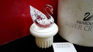 Swarovski Crystal Swan with stand 水晶百年版天鵝