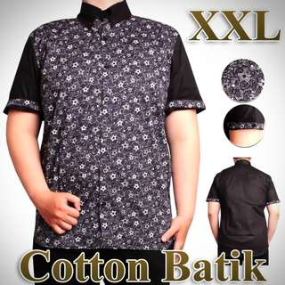 Atasan XL & XXL Cotton Batik Lengan Pendek Tony Sekoder For Men.