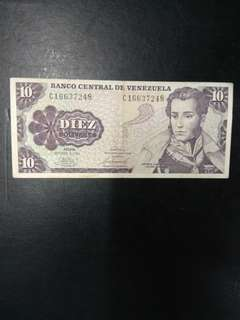 Venezula 10 bolivares 1981 issue
