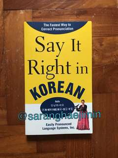 Learn Korean SAY IT RIGHT