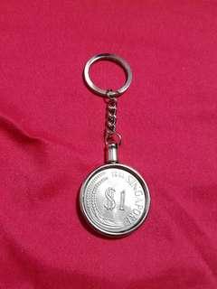 SG OLD $1 KEYCHAIN