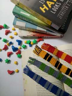 Harry Potter House Scarf Crochet Bookmarks