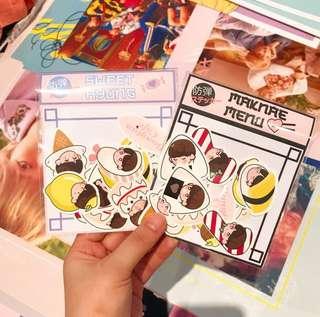 BTS Maknae menu/Sweet Hyung stickers