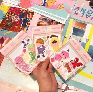 BTS in Wonderland stickers