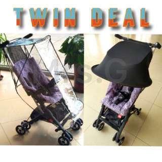 BN Pockit Stroller Sun Shade Cover & Rain Cover