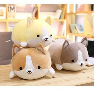 45cm Cute Corgi Dog Plush Toy Stuffed