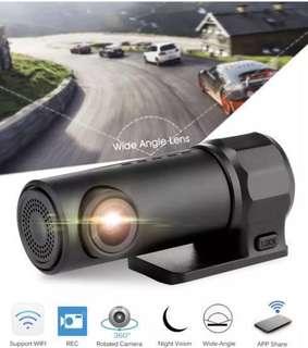 Ready Stock Wifi Mini Car DVR Camera - link to phone app, Motion/Vibration Detection, Loop Recording