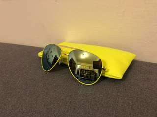螢光黃 太陽眼鏡 (雷朋style)