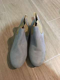 Baby blue ankle boots
