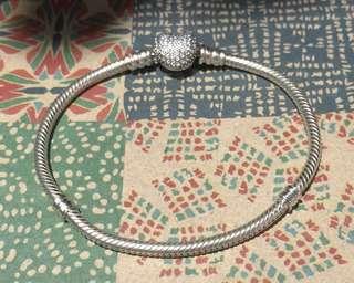 Authentic Pandora Pave Heart Cz