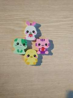 Cute animal erasers
