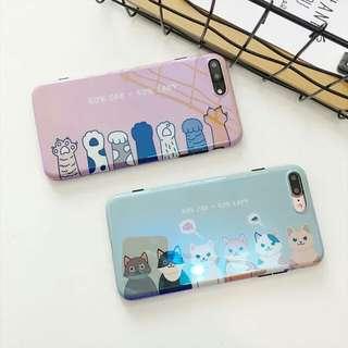 藍光貓咪iPhone 軟殼(需要訂)