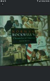 Art And Design Book  Norman Rockwells Chronicles Of America  Design Art Students  Graphic Design Fine Art Computer Graphics  Hardcover Pick Up hougang Buangkok Mrt Hard Cover