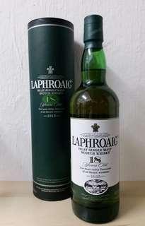 Laphroaig 18 Year Old Single Malt Scotch 舊版