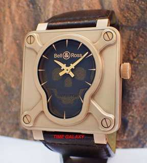 Preowned Bell & Ross BR01 Limited Skull Bronze Auto 46mm Men's watch. Limited edition Made only 500 units. Swiss made.