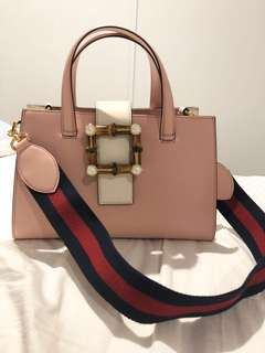 Authentic Gucci handbag with bamboo and pear details