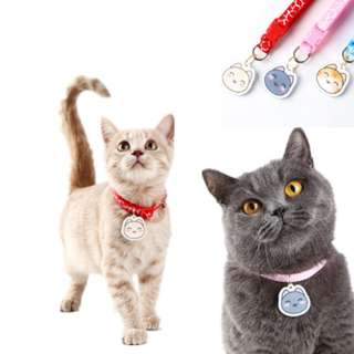 Cat Shaped Customized Free Engraving Pet Cat Collar Accessories Customized Dog Cat ID For Kitten Puppy